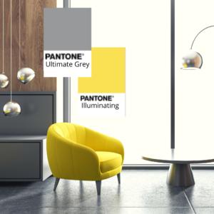 I colori Pantone 2021- Illuminating e Ultimate grey