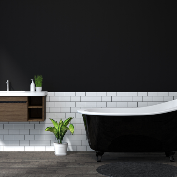 Rivestimento bagno: qual è l'altezza migliore?