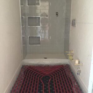Bagno- Riscaldamento a pavimento, Boccia Costruzioni