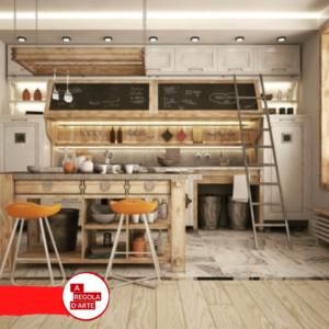 Cucina in muratura in stile industrial