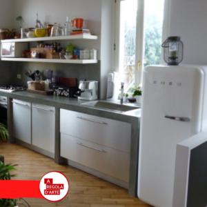 Cucina in muratura in stile moderno