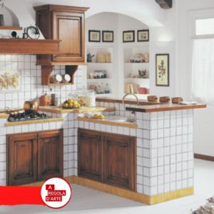 Cucina in muratura in stile rustico